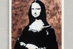 021. Mona 2.0 - Oil and Spray Painting  Criss Wolff