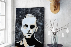 0008. A famous person - Oil Painting by Criss Wolff
